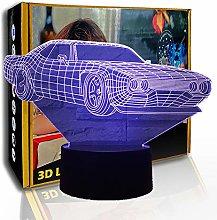 KangYD Super Car 3D Illusion Lamp, LED Visual