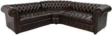 Kanisha Chesterfield Balmora Leather Corner Sofa