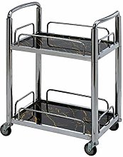 KANJJ-YU Stainless Steel 2-Layer Service Trolley