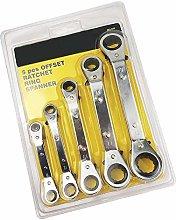 KANJJ-YU Tools 5Pcs Wrench Set of Tools Chromium
