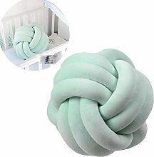 KANKOO Baby Crib Bumper Tie Knot Pillow Ball
