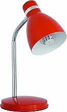Kanlux Zara Desk Lamp in Orange with Extension Arm