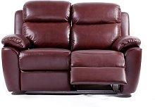 Kansas Reclining 2 Seater Leather Sofa Settee