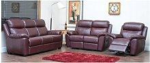 Kansas Reclining 3+2+1 Leather Sofa Suite