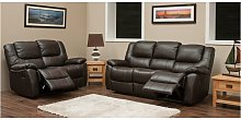 Kansas Reclining 3+2 Leather Sofa Suite Available