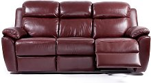 Kansas Reclining 3 Seater Leather Sofa Settee