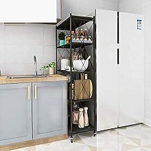 KANULAN Storage Trolleys 5 Shelf Kitchen Foldable