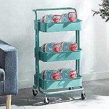 KANULAN Storage Trolleys Shelf 3-Tier