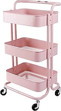 KANULAN Storage Trolleys shelf Storage Cart With 3