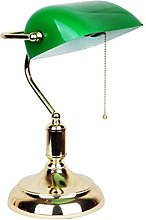 Kaper Go Classic Bankers Desk Lamp Polished Brass