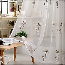 Kapok Christmas Decoration Sheer Voile Curtains
