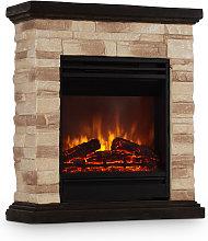 Kaprun Electric Fireplace 1800W Stone Decor