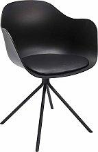 Kare Bel Air Armchair, Textile, Black, 77.5 x 58 x
