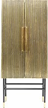 Kare Cabinet Oro, Wood, Gold, 75 x 42 x 180