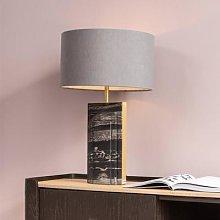 KARE Charleston Marble table lamp black