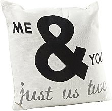 KARE Cushion Just Us Two White 45x45cm, 45 x 45 cm