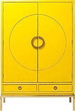 Kare Design Disk Cabinet Yellow, Wood, (H/W/D) 55