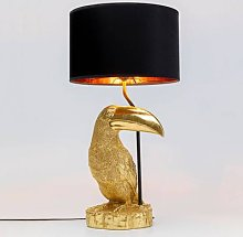 KARE Toucan table lamp gold
