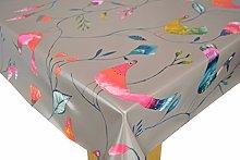 Karina Home Barmy Birds Taupe PVC Oilcloth