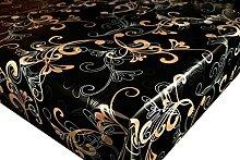 Karina Home Black Swirl Wipe Clean Tablecloth