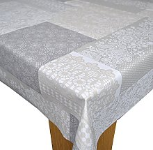 Karina Home Bruges Lace Grey Wipe Clean Tablecloth