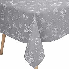 Karina Home Christmas Festive Grey Linen Look PVC