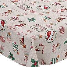 Karina Home Christmas Santa Claus Cream PVC Vinyl