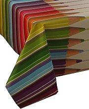 Karina Home Crayons PVC Wipe Clean Tablecloth