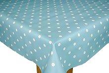 Karina Home Duck Egg Blue Dotty PVC Wipe Clean