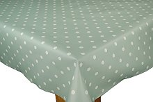 Karina Home Duck Egg Green Dotty PVC Wipe Clean