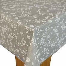 Karina Home Hannah Floral Grey PVC Tablecloth