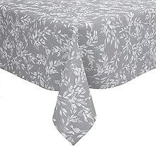 Karina Home Isla Leaf Pattern Grey Wipe Clean