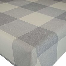 Karina Home Maxine Grey Check Linen Effect PVC