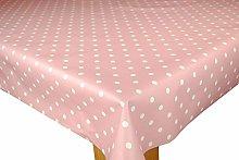 Karina Home Pink Dotty PVC Wipe Clean Tablecloth