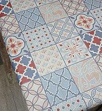 Karina Home Porto Tiles Chambray Blush Wipe Clean