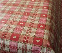 Karina Home Sweetheart Red PVC Tablecloth 250cm x