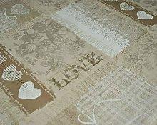 Karina Home Taupe Home Sweet Home 138cm ROUND Wipe