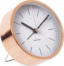 Karlsson Alarm Clock Minimal, White, 4x10x10 cm