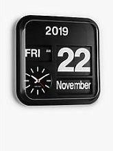 Karlsson Big Flip Wall Clock, 43cm, Black