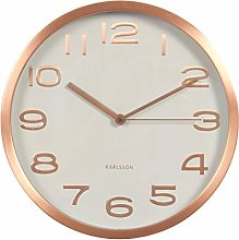 Karlsson Clock - Maxi Design, White and copper