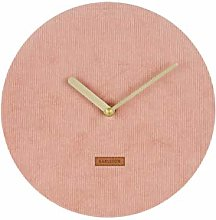 Karlsson Corduroy Wall Clock, Corduroy, Pink, One