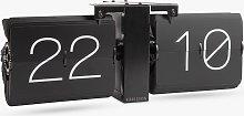 Karlsson Flip No Case Table / Wall Clock, Black