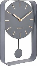 Karlsson KA5796GY Pendulum Clocks Modern Wall