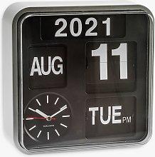 Karlsson Mini Flip Wall Clock, 25cm, Silver