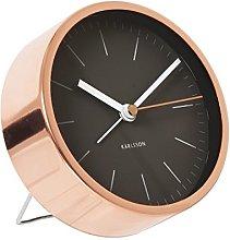 Karlsson Minimal Alarm Clock Black Copper
