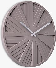 Karlsson Slides Silent Analogue Wall Clock, 40cm,
