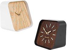 Karlsson Squared Table clock (dark wood)