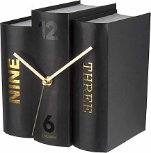 Karlsson, table clock, Paper, Black, One Size