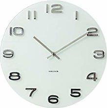 Karlsson Vintage Round Glass Wall Clock, White