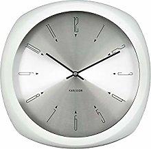 Karlsson, wall clock, aluminium, White, One Size